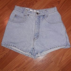90's high waisted Jean shorts Anchor Blue